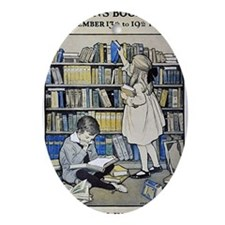 1921 Childrens Book Week poster Oval Ornament
