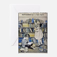 1921 Childrens Book Week poster Greeting Card
