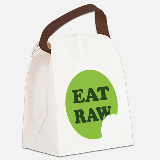 Eat Raw Canvas Lunch Bag