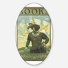 1927 Childrens Book Week poster Sticker (Oval)