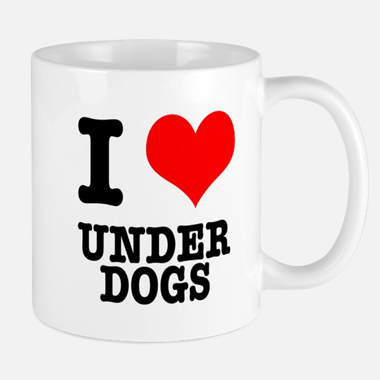 I Heart (Love) Under Dogs Mug