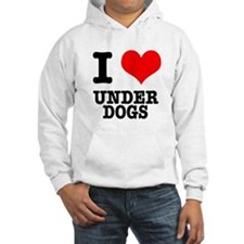 I Heart (Love) Under Dogs Hoodie