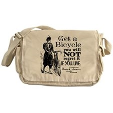 Twain Get A Bicycle Quote Messenger Bag