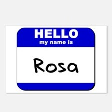 hello my name is rosa  Postcards (Package of 8)