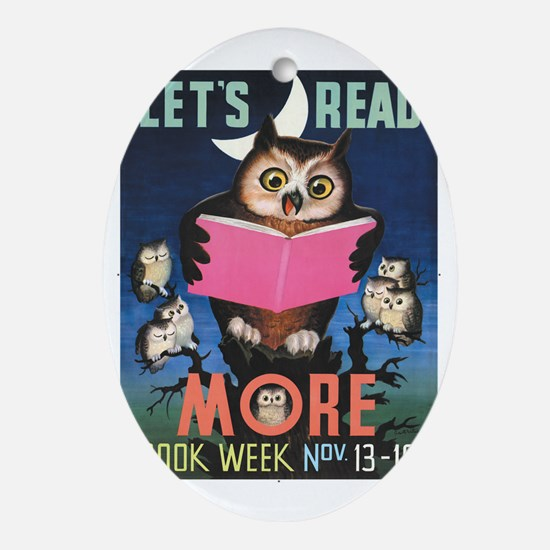1955 Childrens Book Week Oval Ornament
