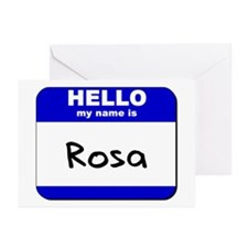 hello my name is rosa  Greeting Cards (Package of
