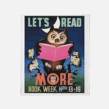 1955 Childrens Book Week Throw Blanket