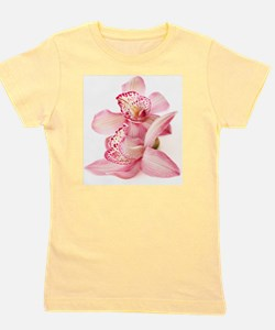 two pink orchids on white Girl's Tee