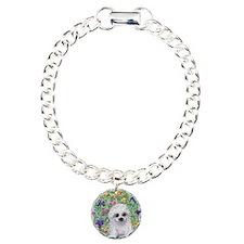 Maltese pup in the garde Bracelet