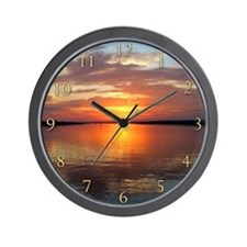 Painted Sunset Wall Clock