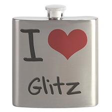 I Love Glitz Flask