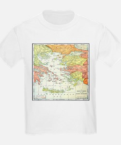Map Isles Of Greece T-Shirt