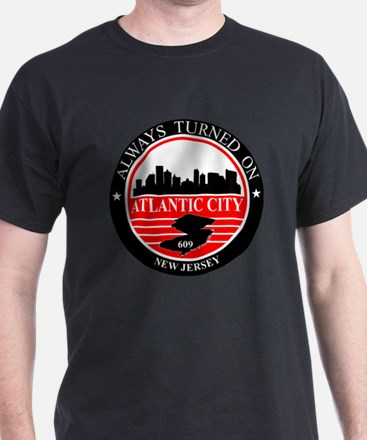 Atlantic City logo black and red T-Shirt
