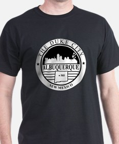 Albuquerque logo white and black  T-Shirt