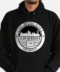 Albuquerque logo white and black  Hoodie (dark)