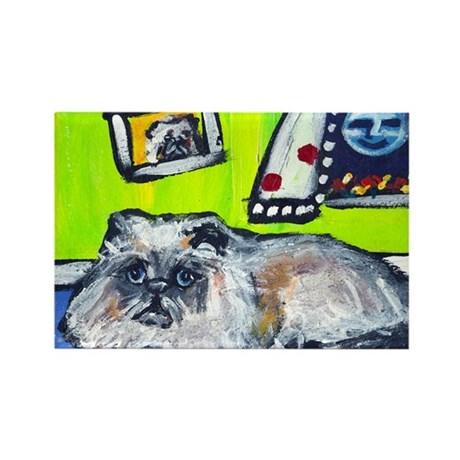 BLUE POINT Himalayan cat sens Rectangle Magnet (10
