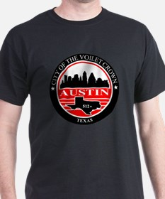 Austin logo black and red T-Shirt