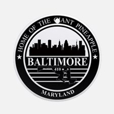 Baltimore logo black and white Round Ornament