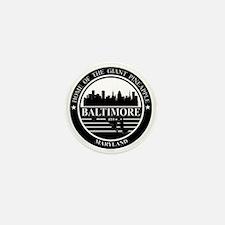 Baltimore logo black and white Mini Button