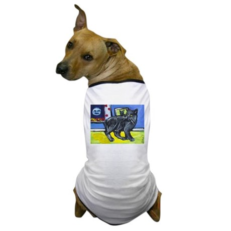 MANX CAT senses smiling moon Dog T-Shirt