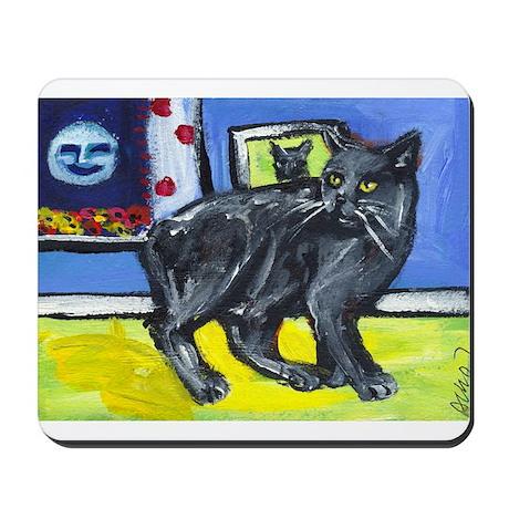 MANX CAT senses smiling moon Mousepad