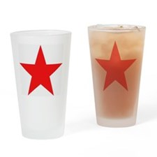 Megans Sharon Tate Red Star Drinking Glass