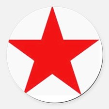 Megans Sharon Tate Red Star Round Car Magnet