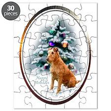 Irish Terrier Christmas Puzzle