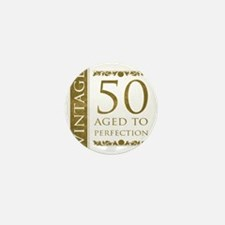 Fancy Vintage 50th Birthday Mini Button
