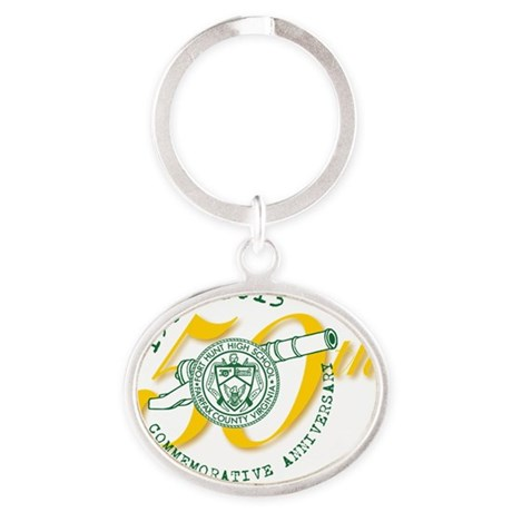 FHHS 50th Reunion Oval Keychain