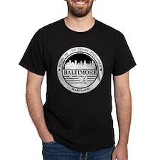 Baltimore logo white and black T-Shirt