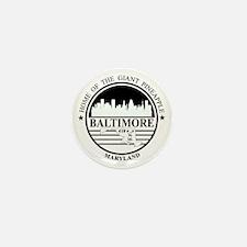 Baltimore logo white and black Mini Button
