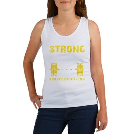 STRONG THE NEW 40 - YELLOW Women's Tank Top