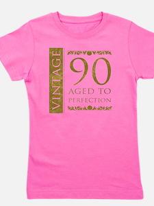Fancy Vintage 90th Birthday Girl's Tee