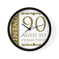 Fancy Vintage 90th Birthday Wall Clock