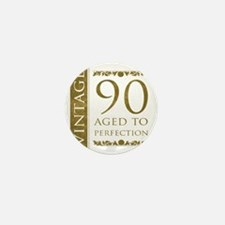 Fancy Vintage 90th Birthday Mini Button