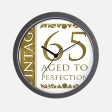 Fancy Vintage 65th Birthday Wall Clock