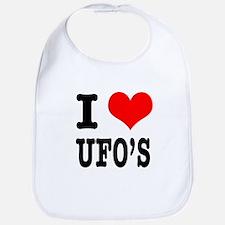 I Heart (Love) UFOs Bib