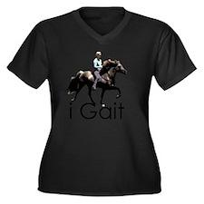 iGait Women's Plus Size Dark V-Neck T-Shirt