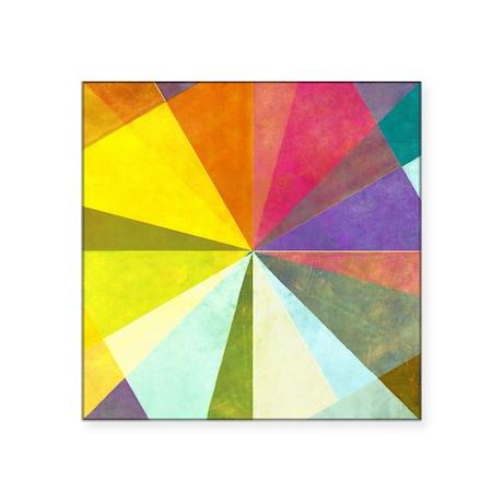 "Earthy geometric background Square Sticker 3"" x 3"""