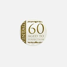 Fancy Vintage 60th Birthday Mini Button