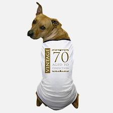 Fancy Vintage 70th Birthday Dog T-Shirt