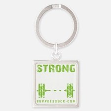 STRONG THE NEW 50 - LIME Square Keychain