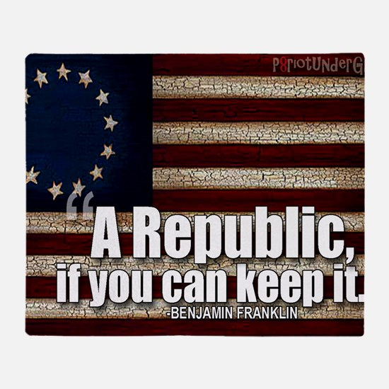 A Republic Throw Blanket