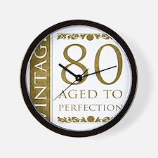 Fancy Vintage 80th Birthday Wall Clock
