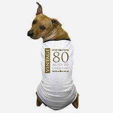 Fancy Vintage 80th Birthday Dog T-Shirt