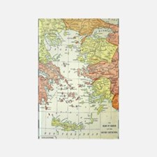 Map Isles Of Greece Magnets