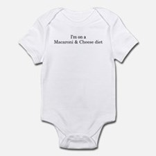 Macaroni & Cheese diet Infant Bodysuit