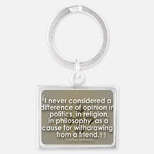 A Difference of Opinion Landscape Keychain