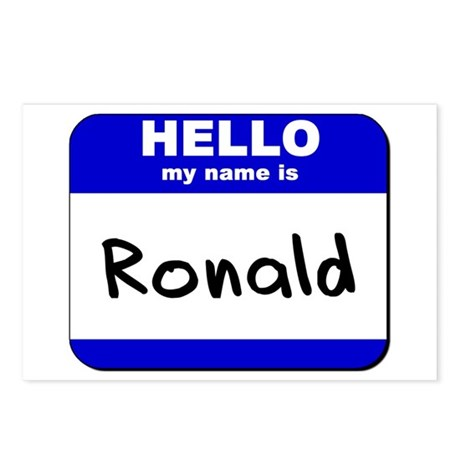 hello my name is ronald Postcards (Package of 8)